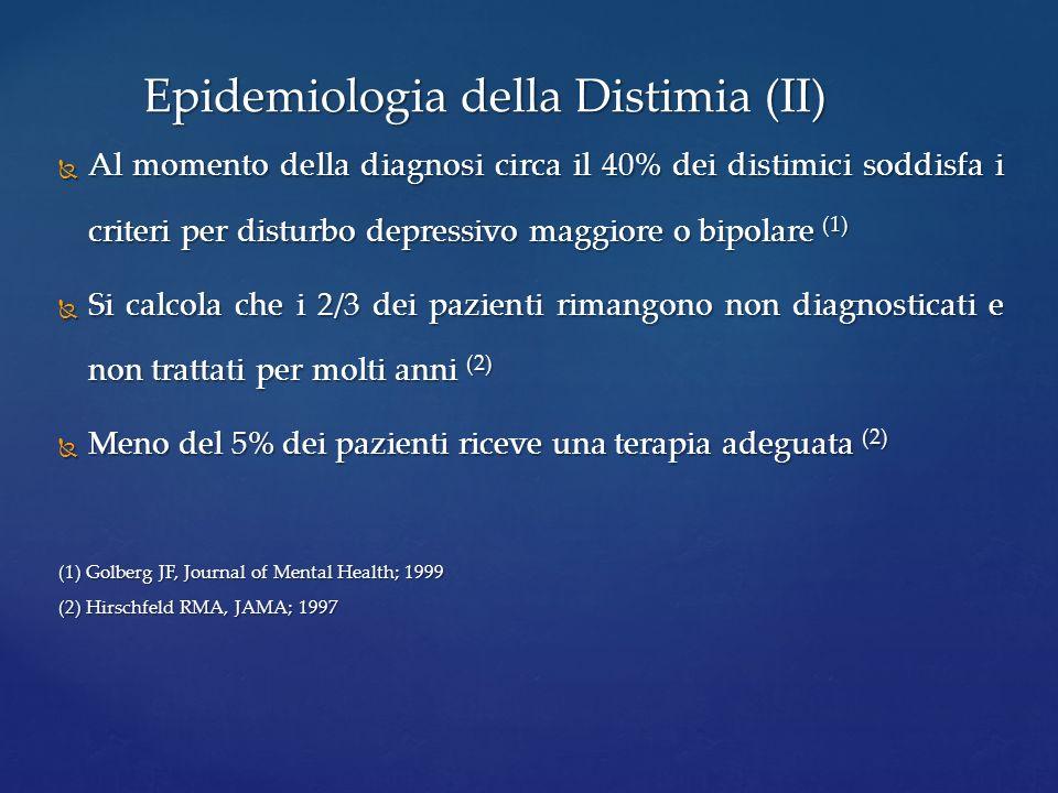 Epidemiologia della Distimia (II)