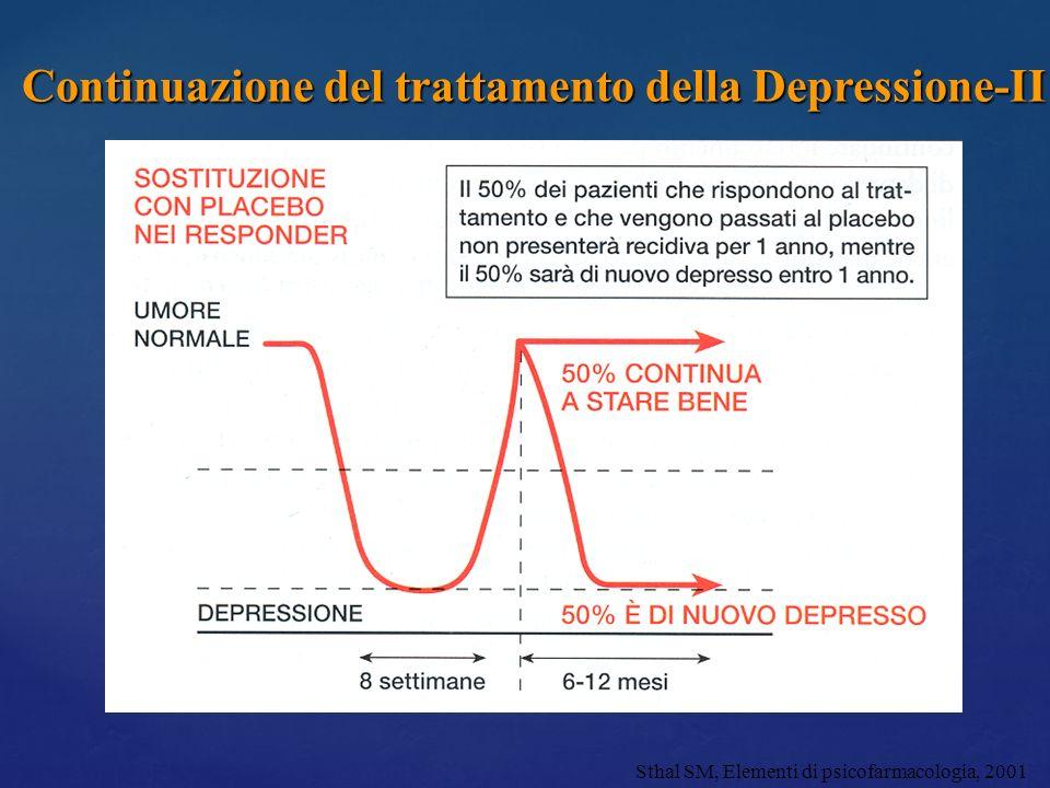 Continuazione del trattamento della Depressione-II
