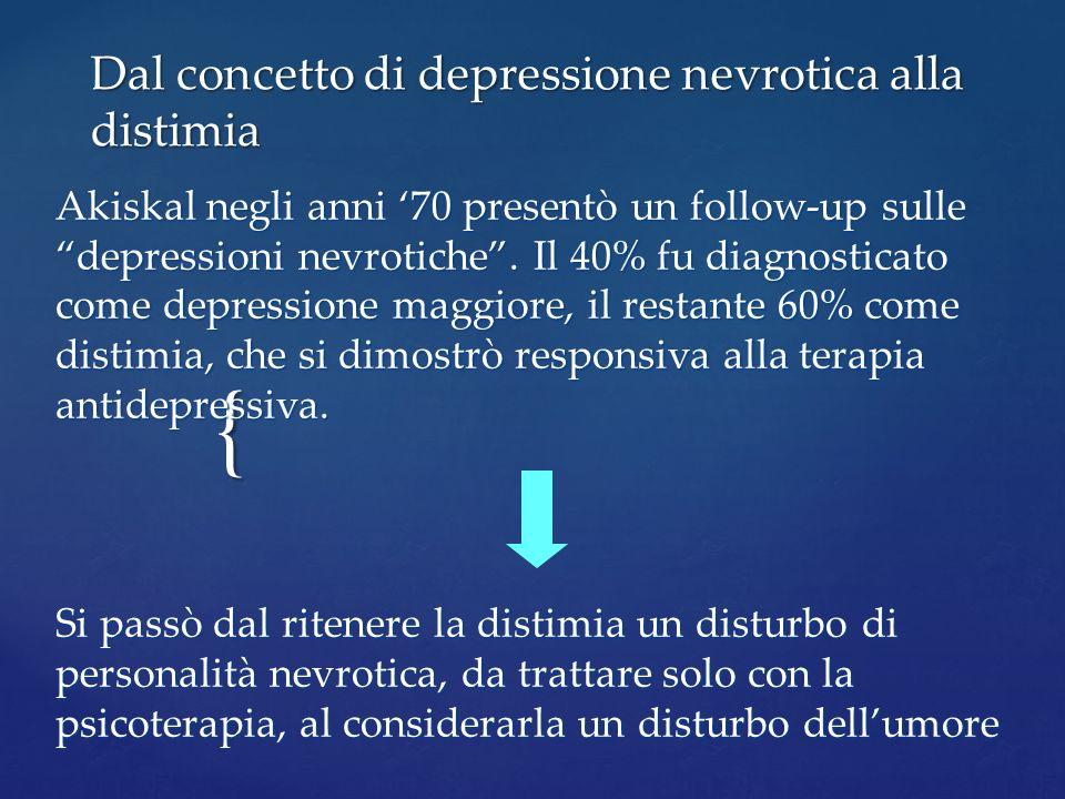 Dal concetto di depressione nevrotica alla distimia