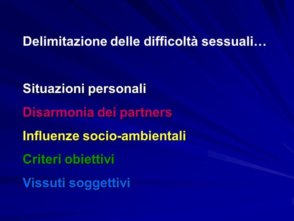 Delimitazione delle difficoltà sessuali…