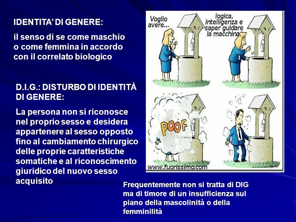 D.I.G.: DISTURBO DI IDENTITÀ DI GENERE: