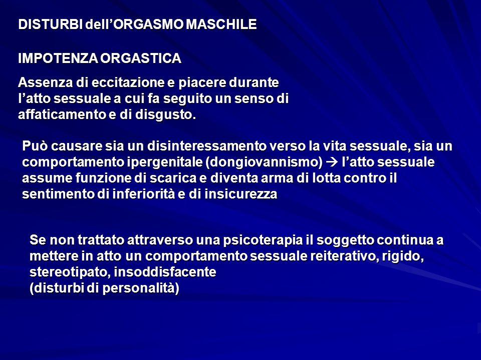 DISTURBI dell'ORGASMO MASCHILE
