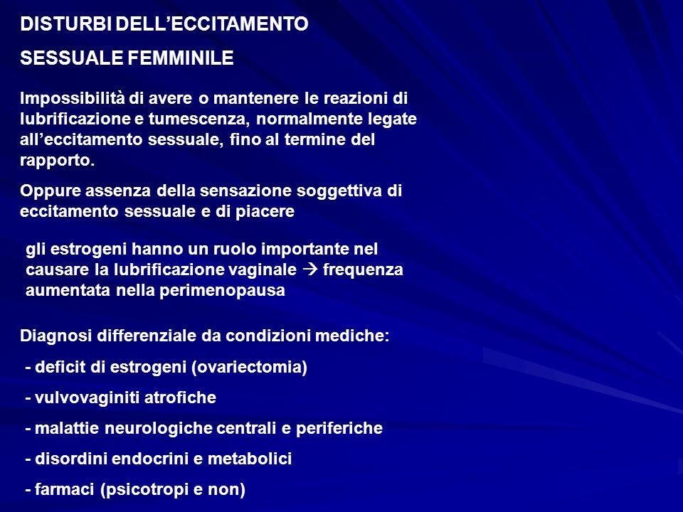 DISTURBI DELL'ECCITAMENTO SESSUALE FEMMINILE