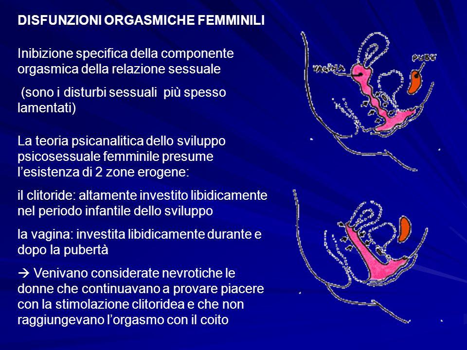 DISFUNZIONI ORGASMICHE FEMMINILI