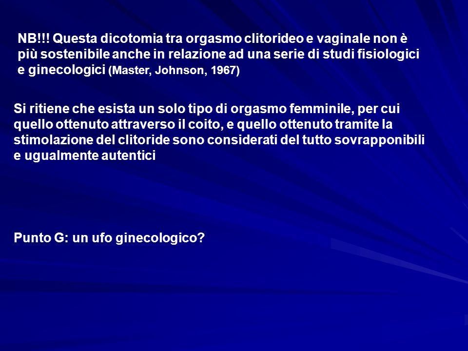 NB!!! Questa dicotomia tra orgasmo clitorideo e vaginale non è più sostenibile anche in relazione ad una serie di studi fisiologici e ginecologici (Master, Johnson, 1967)