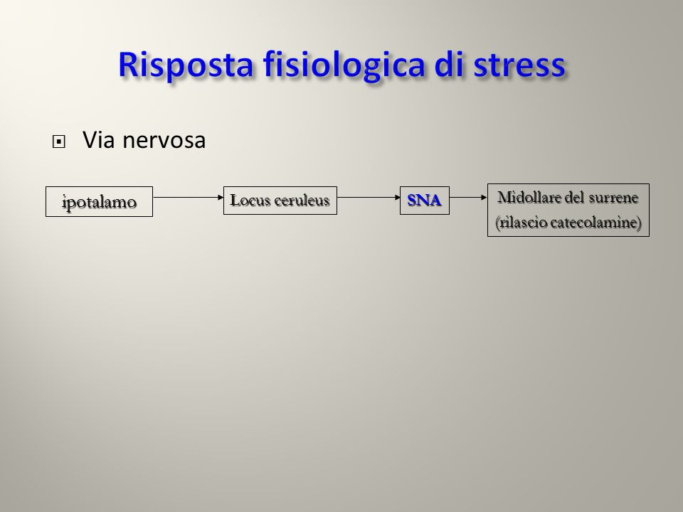 Risposta fisiologica di stress