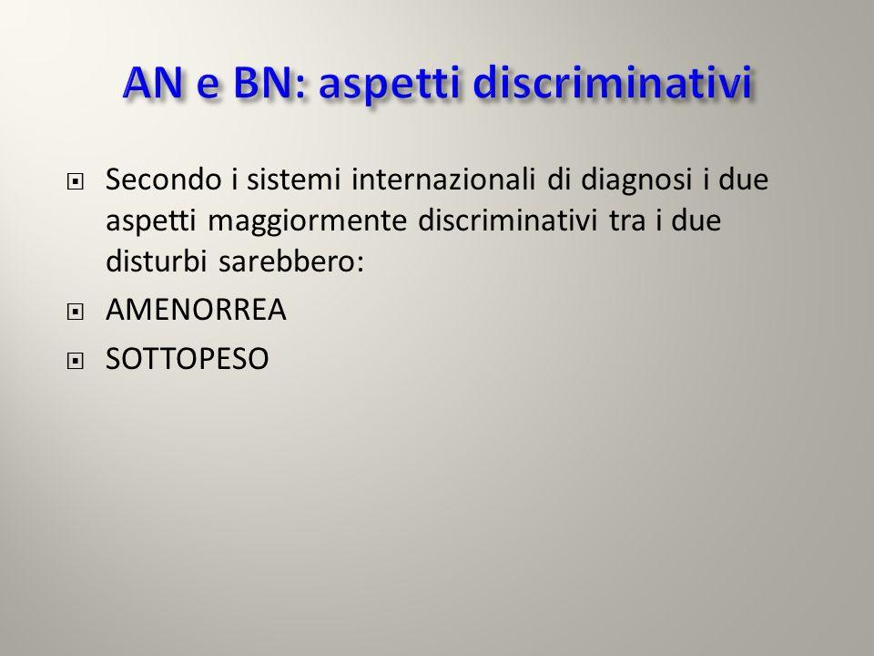 AN e BN: aspetti discriminativi