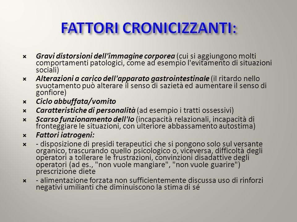FATTORI CRONICIZZANTI: