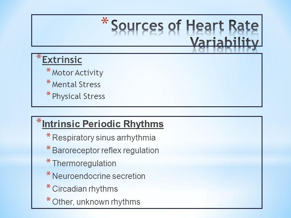 Sources of Heart Rate Variability