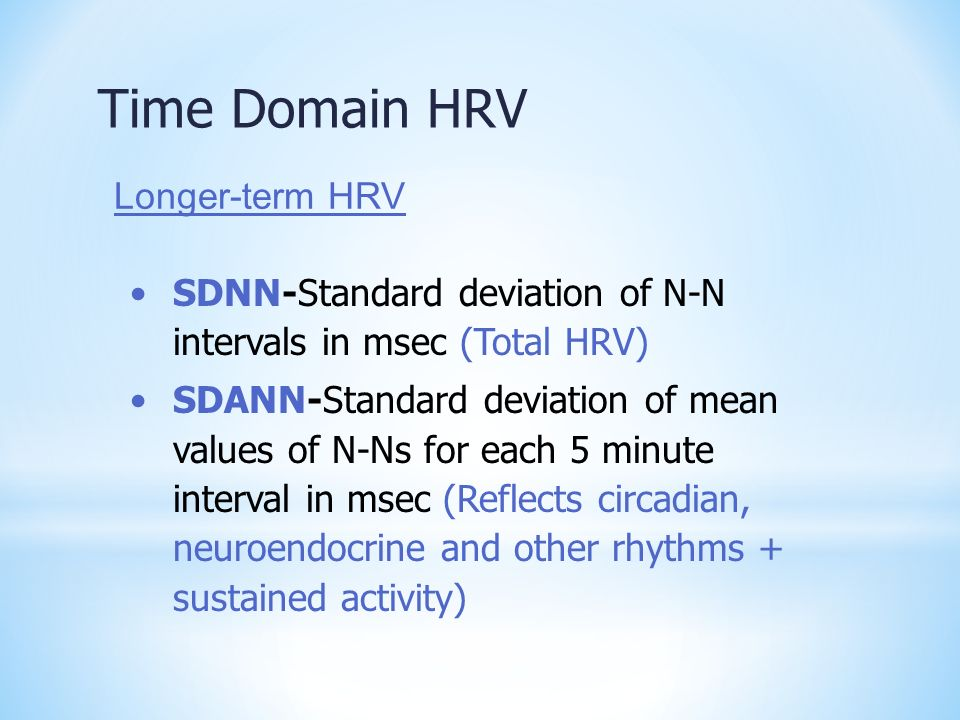 Time Domain HRV Longer-term HRV