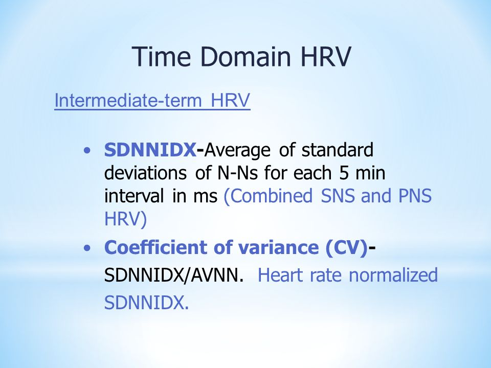 Time Domain HRV Intermediate-term HRV