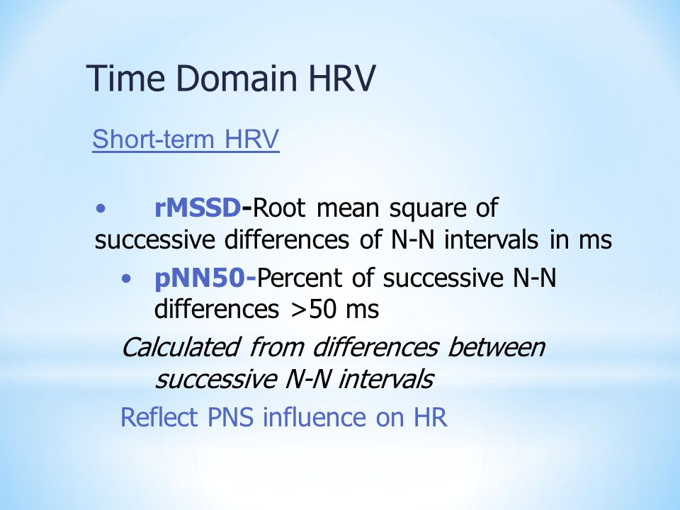 Time Domain HRV Short-term HRV