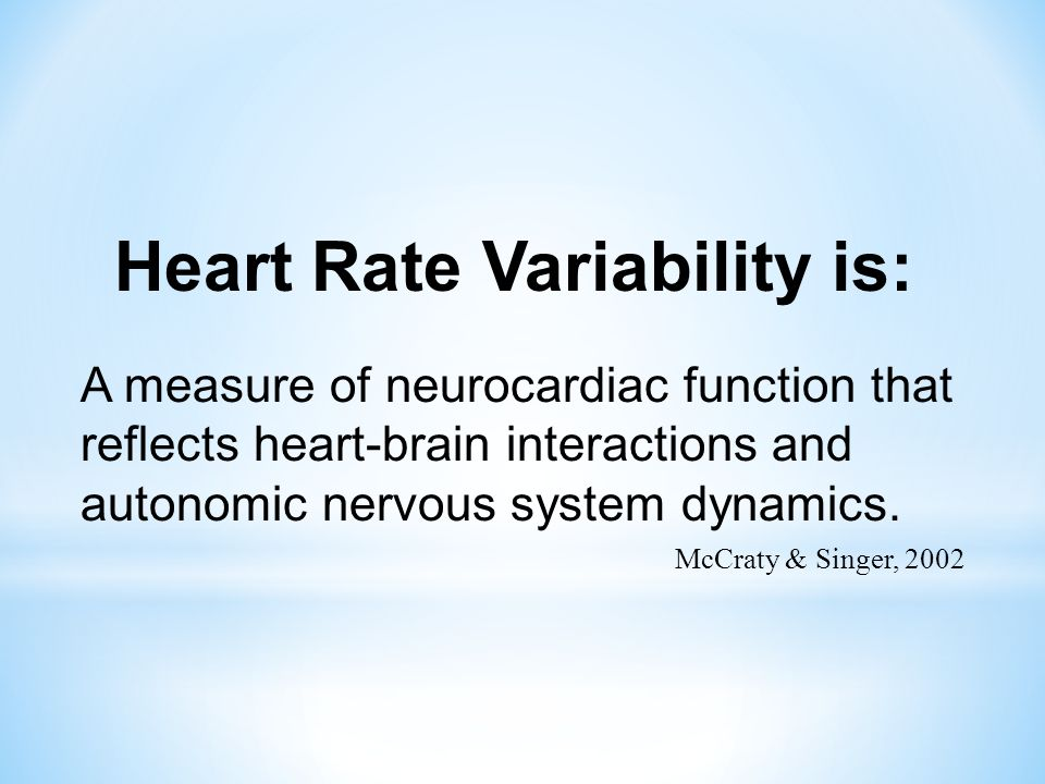 Heart Rate Variability is: