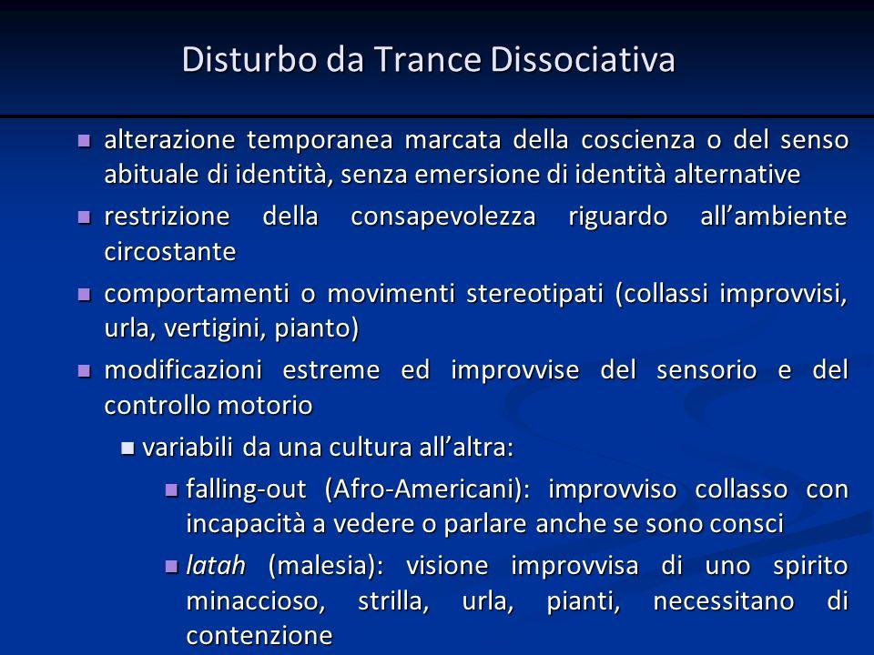 Disturbo da Trance Dissociativa