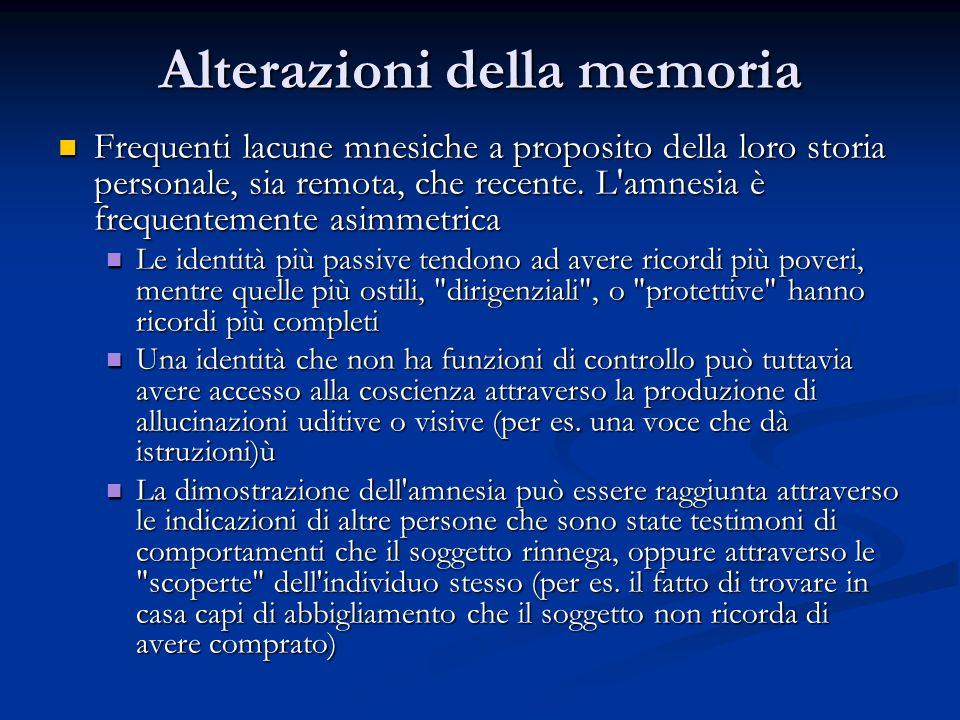 Alterazioni della memoria