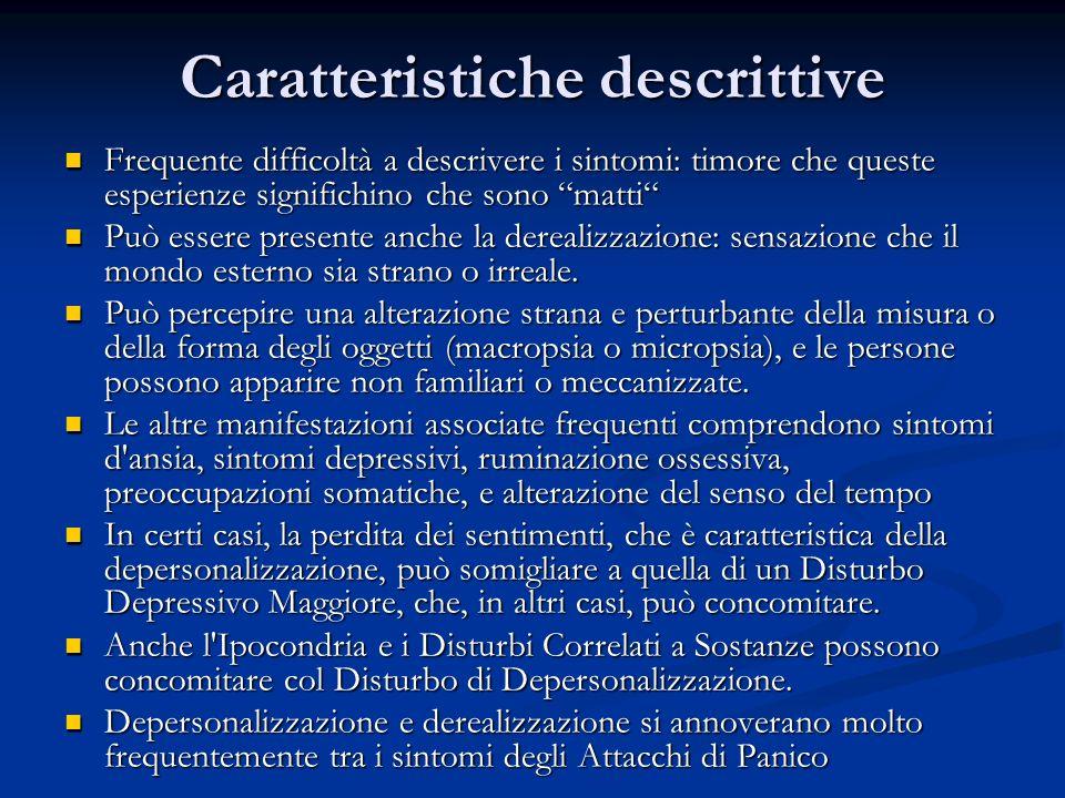 Caratteristiche descrittive