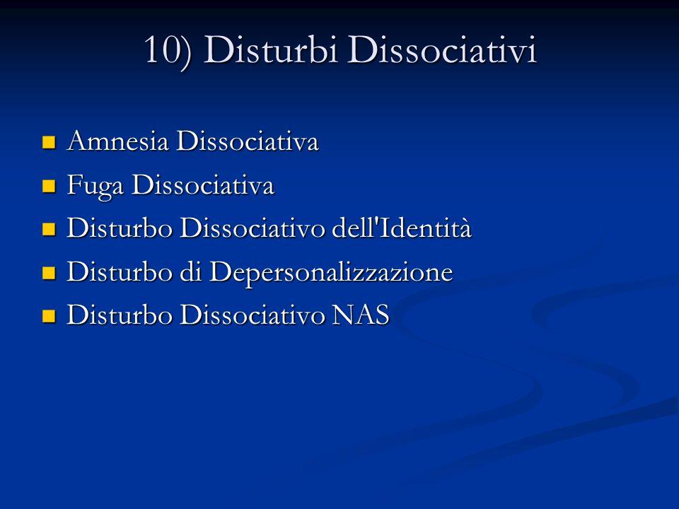 10) Disturbi Dissociativi