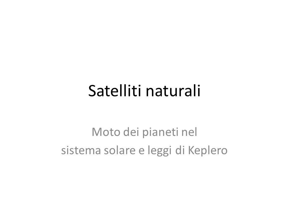 Moto dei pianeti nel sistema solare e leggi di Keplero