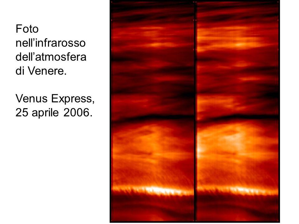 Foto nell'infrarosso dell'atmosfera di Venere.