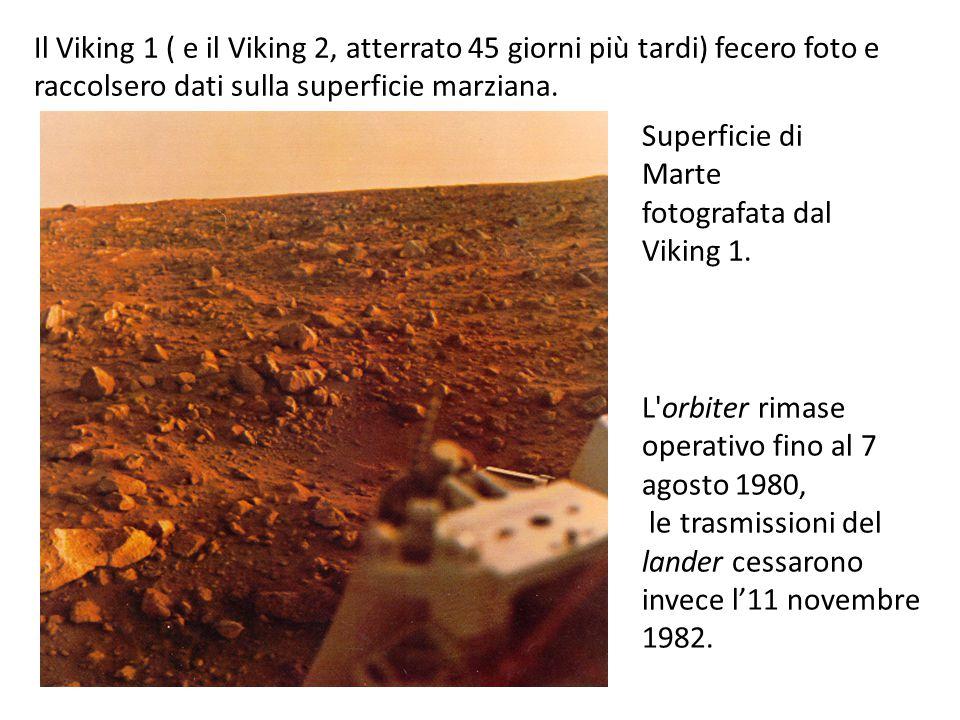 Il Viking 1 ( e il Viking 2, atterrato 45 giorni più tardi) fecero foto e raccolsero dati sulla superficie marziana.