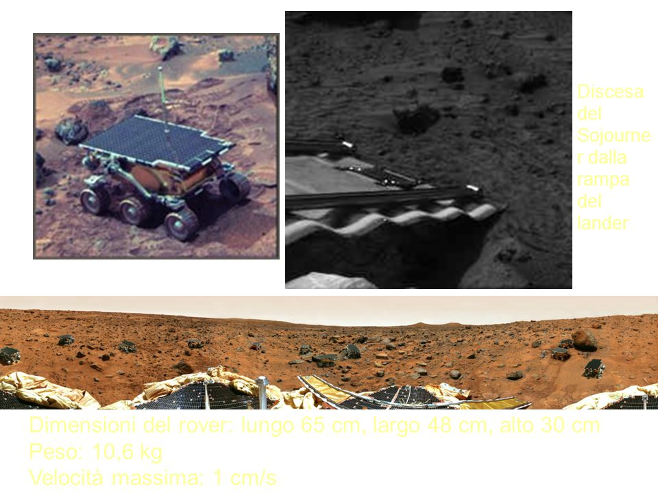 Discesa del Sojourner dalla rampa del lander