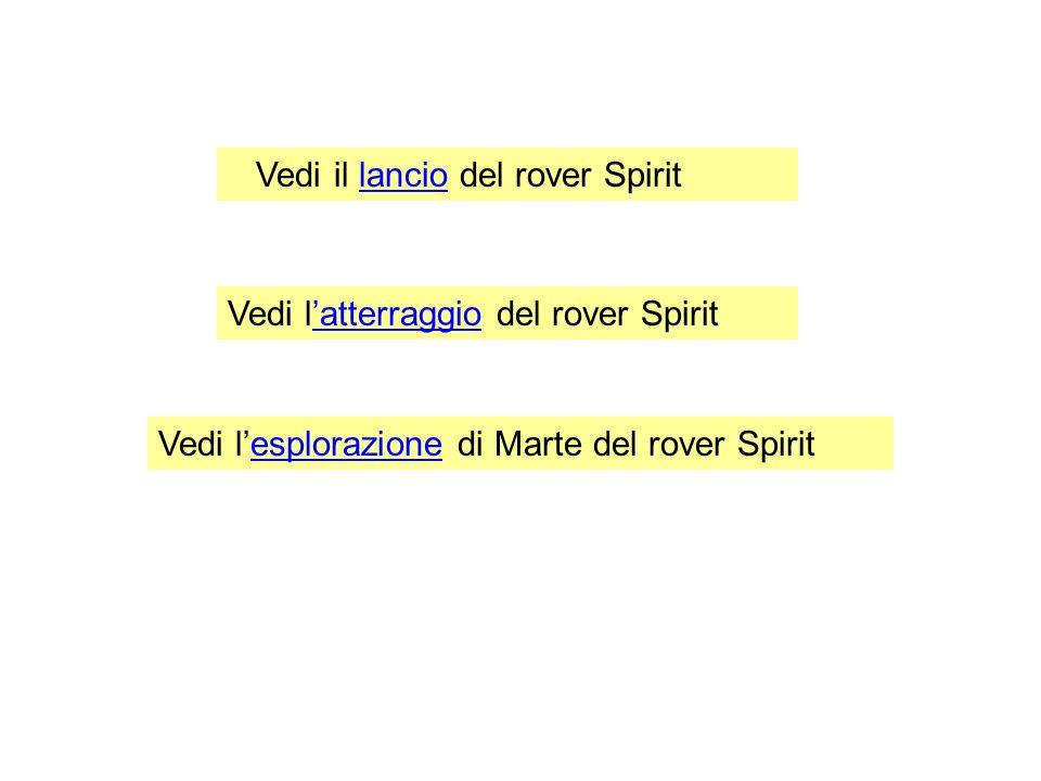 Vedi il lancio del rover Spirit