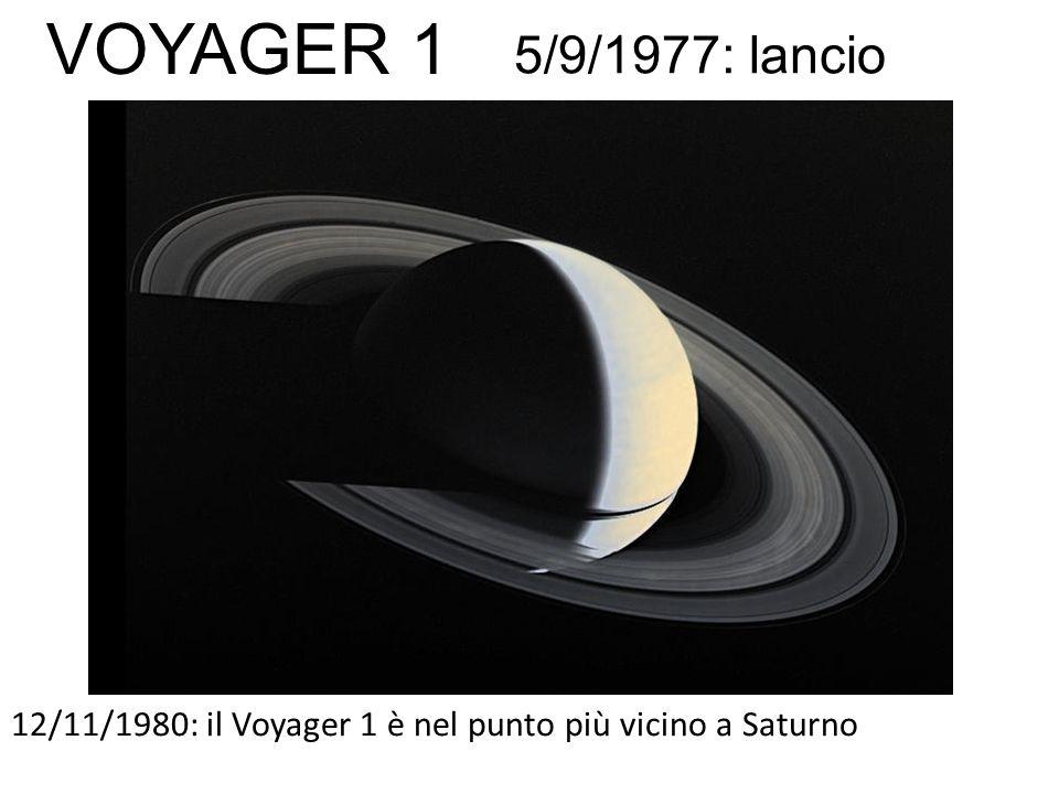 12/11/1980: il Voyager 1 è nel punto più vicino a Saturno