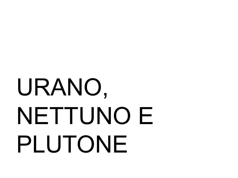 URANO, NETTUNO E PLUTONE