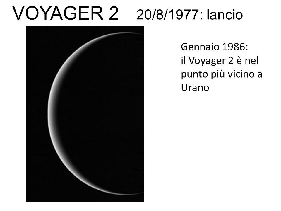 Gennaio 1986: il Voyager 2 è nel punto più vicino a Urano