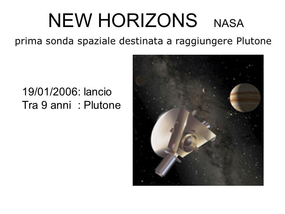 NEW HORIZONS NASA 19/01/2006: lancio Tra 9 anni : Plutone