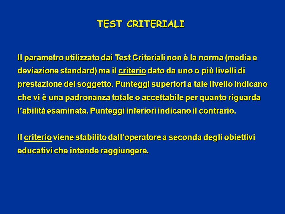 TEST CRITERIALI