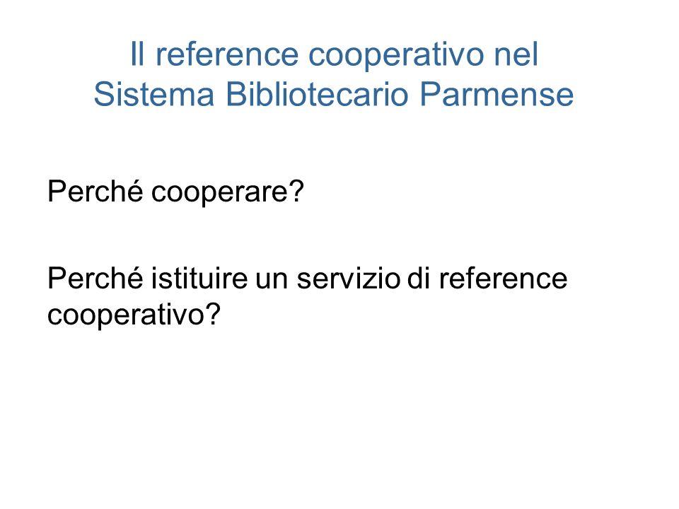 Il reference cooperativo nel Sistema Bibliotecario Parmense