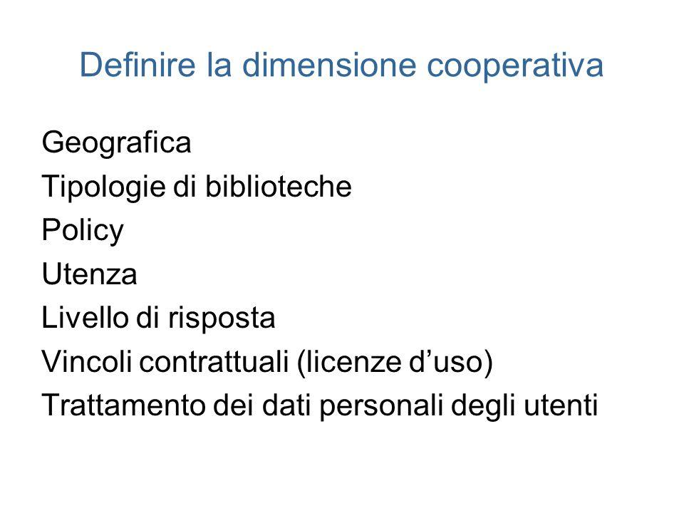 Definire la dimensione cooperativa