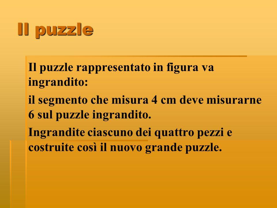 Il puzzle Il puzzle rappresentato in figura va ingrandito: