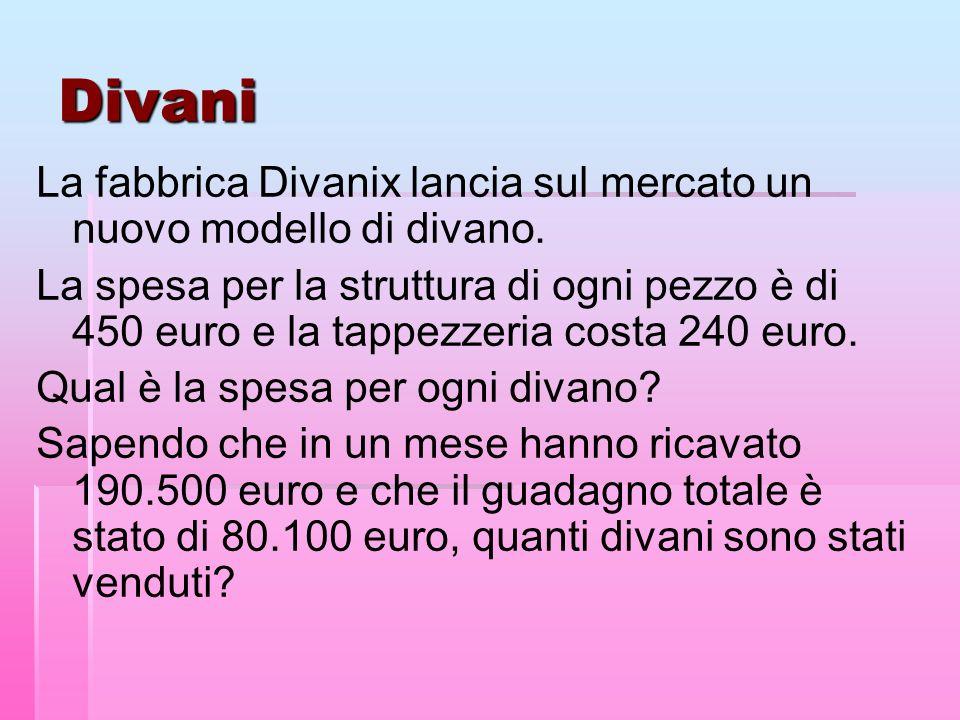 Divani La fabbrica Divanix lancia sul mercato un nuovo modello di divano.