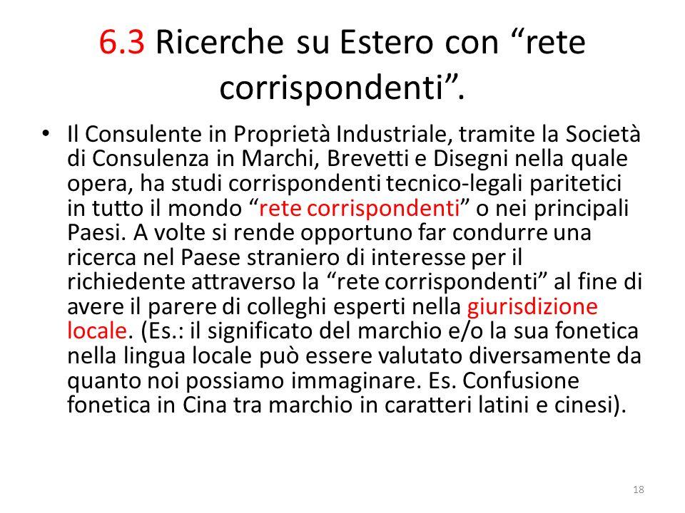 6.3 Ricerche su Estero con rete corrispondenti .