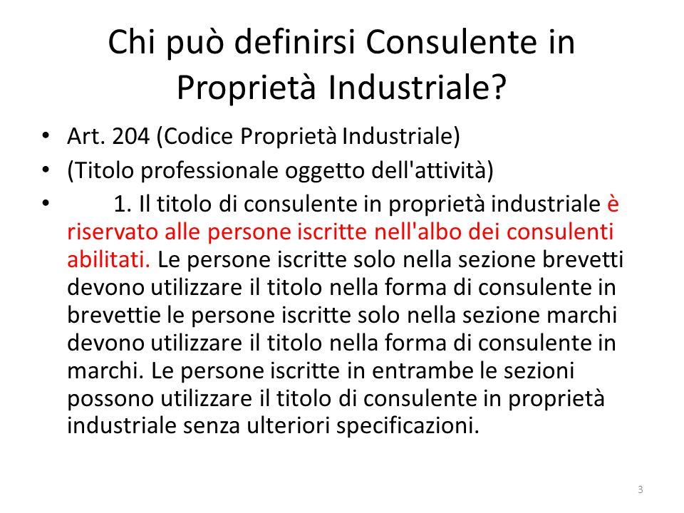 Chi può definirsi Consulente in Proprietà Industriale