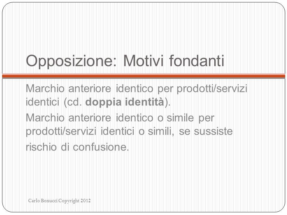 Opposizione: Motivi fondanti