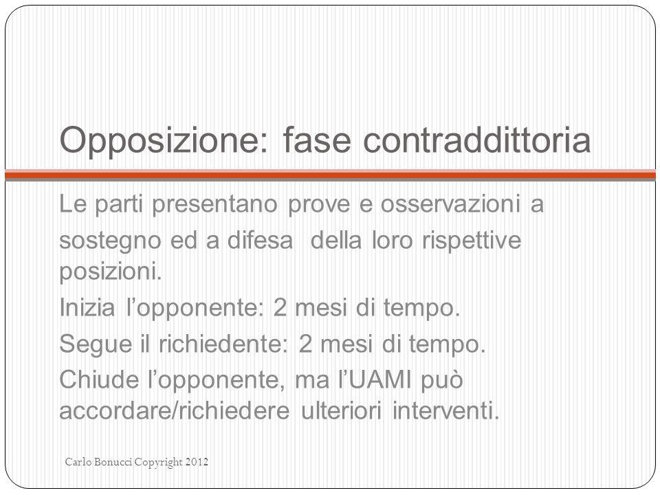 Opposizione: fase contraddittoria