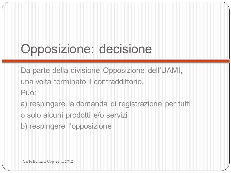 Opposizione: decisione