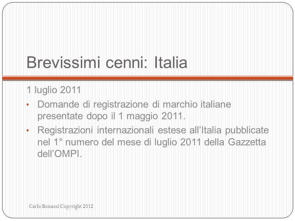 Brevissimi cenni: Italia