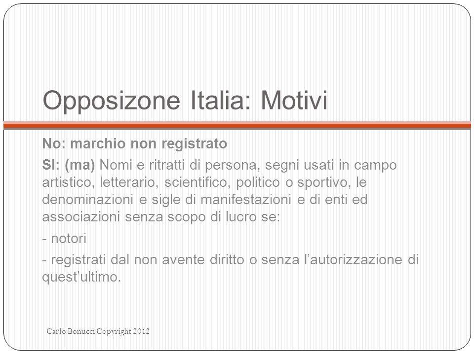 Opposizone Italia: Motivi