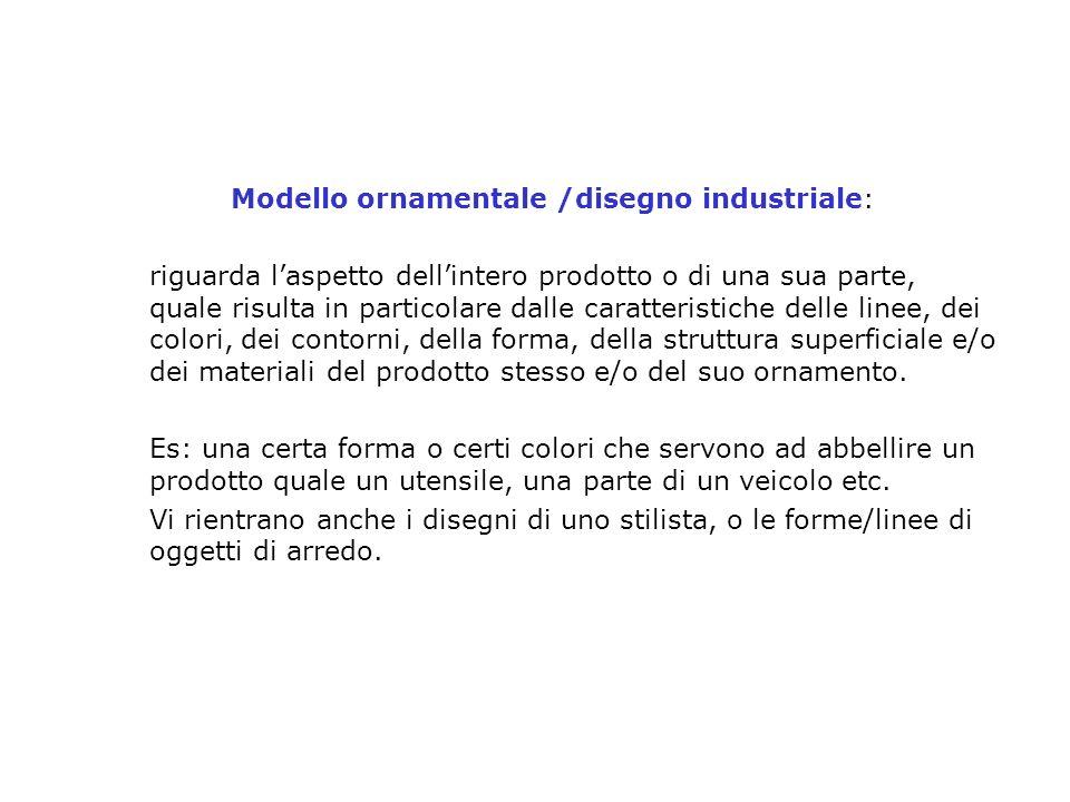 Modello ornamentale /disegno industriale: