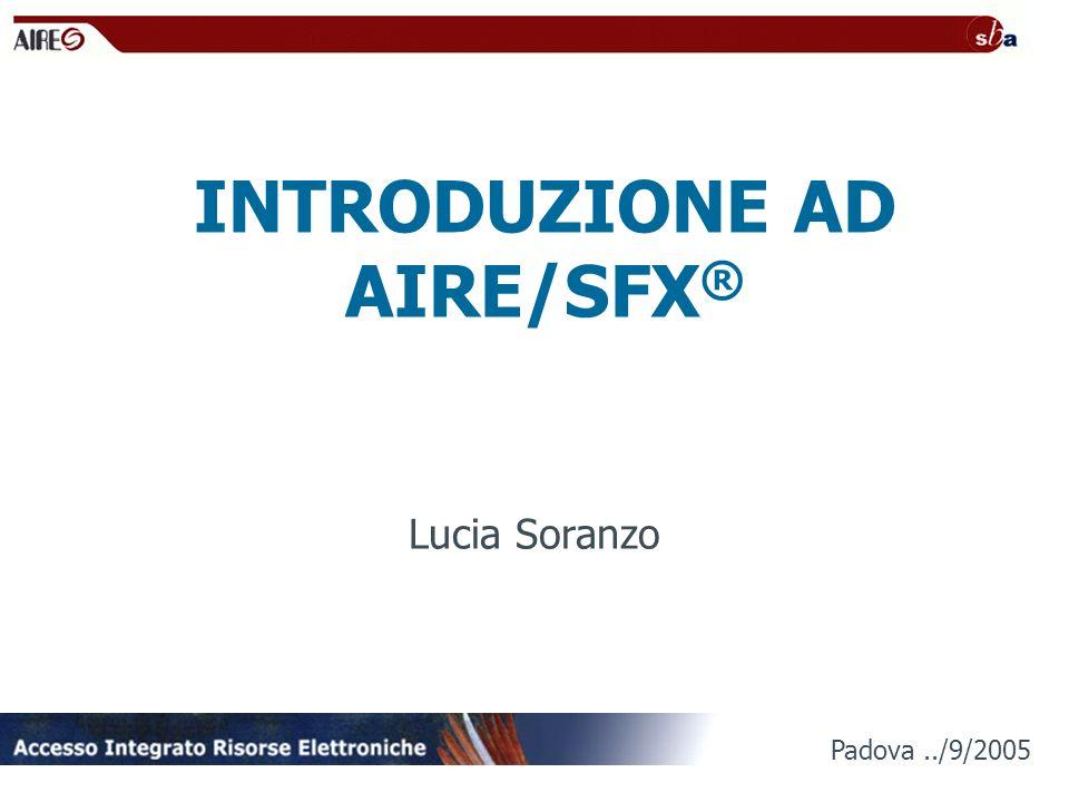 INTRODUZIONE AD AIRE/SFX®
