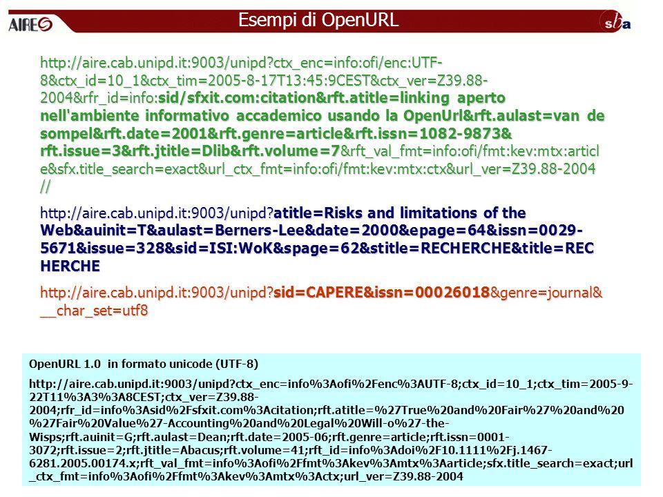Esempi di OpenURL