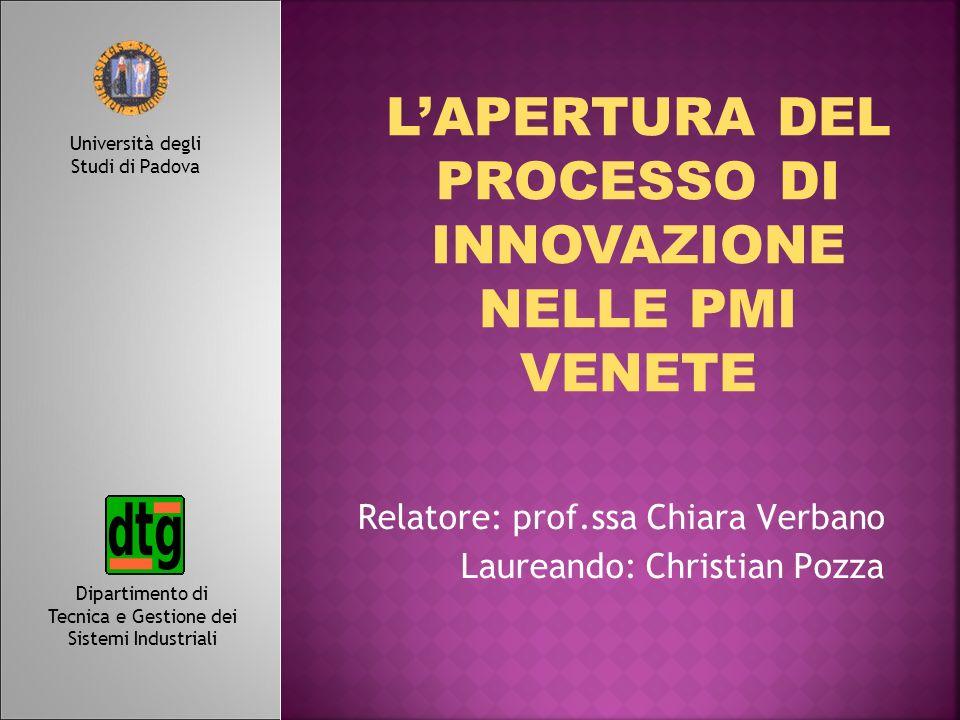 Relatore: prof.ssa Chiara Verbano Laureando: Christian Pozza
