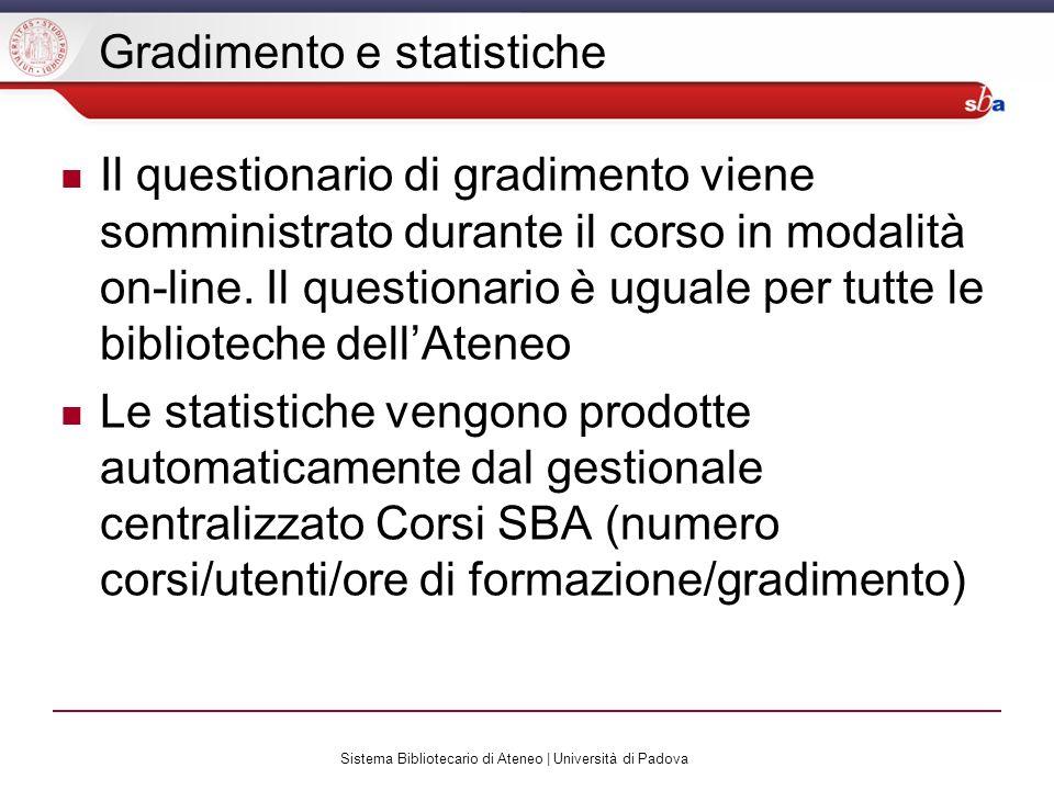 Gradimento e statistiche