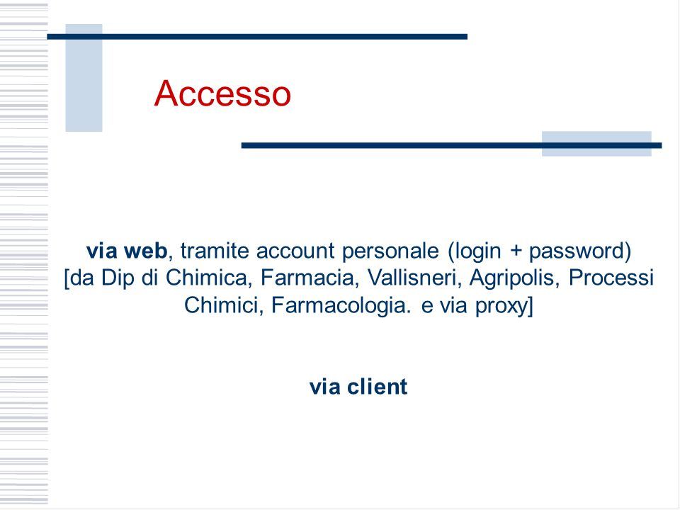 via web, tramite account personale (login + password)