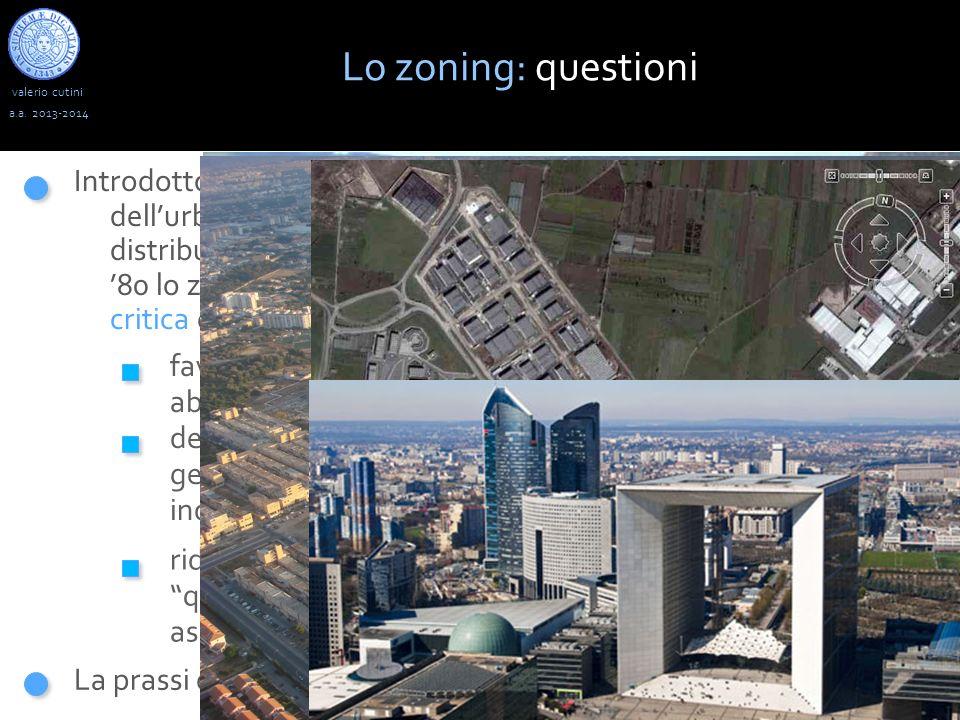 Lo zoning: questioni valerio cutini. a.a. 2013-2014.