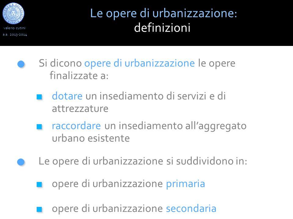 Le opere di urbanizzazione: